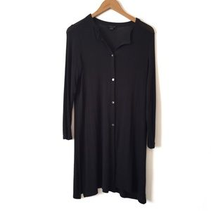 J. Jill Wearever Collection Black Long Cardigan SP